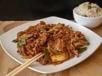 Colación - Carne mongoliana con arroz chaufan