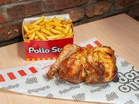 Promo 2 - Pollo entero + papas fritas dobles + bebida Pepsi 1.5 L