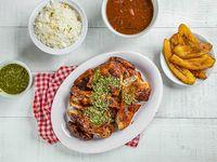 Combo 2 - Pollo asado + arroz blanco + menestra del día + orden tajada + soda 1 L