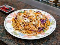 Fideos caseros al wok con vegetales