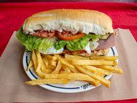 Sándwich grande de milanesa completo