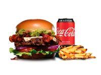 Combo - Guacamole bacon thickburger + papas (porción grande) + bebida en lata 350 ml
