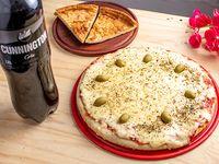 Promo 9 - Pizza con muzzarella grande + Faina + Cunnington cola 2.25 L