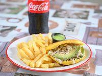 Combo - Arepa de Reina pepiada + papas fritas +Pepsi de 500 ml
