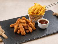 Bastones de suprema de pollo con papas fritas (para 2 personas)