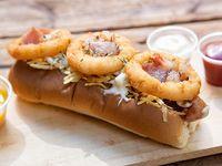 Hot dog onion crispy