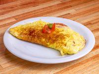 Omelette de queso y tomate