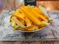 Papas fritas con queso cheddar (dos personas)