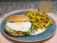 Súper hamburguesas especiales con guarnición a elección
