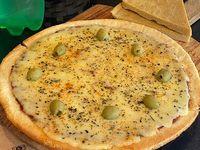 Promo 16 - Pizza grande muzzarella + bebida 1.5 L + 2 faina
