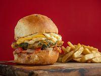 Burger Folding veggie con papas