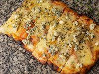 Pizza muzzarella + 1 gusto a elección. Talle s