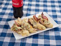 Sandwiche caliente viejo molino con refresco de 600
