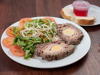 Pan de carne con guarnicion