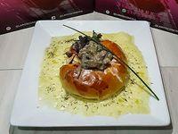 Roscón Champiñones y Queso Mozzarella