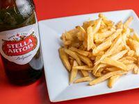 Promo - Papas fritas grandes + Cerveza Stella Artois 1 L
