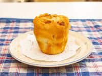 Muffin de vainilla relleno de dulce de leche o manzana o jalea