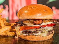 Doble Temple Burger + Papas