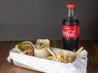 Combo - Wrap + papas fritas + refresco 600 ml
