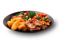 Wok Box 5 Pollo Crocante a la Naranja / Carne Teriyaki