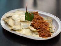 Ravioles de carne y verdura