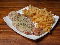 3 - Milanesa roquefort con papas fritas