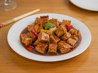 Bandeja de tofu\ vegano