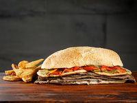 Sándwich gourmet a la provoleta