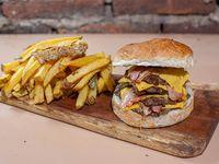 Cuádruple beacon burger