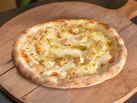 Pizza con pollo ahumado