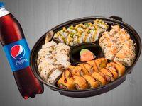Sushi Familiar Volcano + Gaseosa