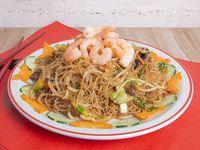 92 - Fideos de arroz con camarones