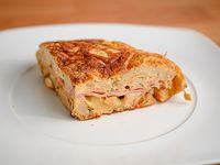 Tortilla rellenas de jamón y queso (porción)