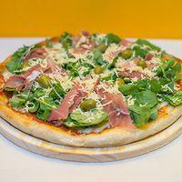 Pizza con rúcula (4 porciones)