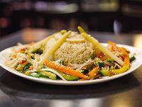 Vegetales al wok con salsa de soja
