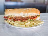 130 - Sándwich de milanesa completo con papas fritas