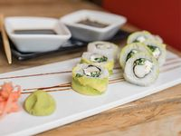 02 - Hot salmón roll (8 piezas)