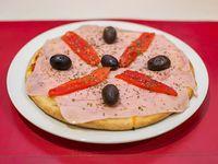 Pizza especial con morrones
