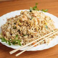 Chow fan con camarones
