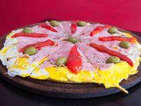 Pizza especial con huevo