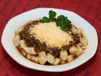 Ñoquis caseros con salsa bolognesa