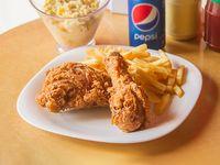 Combo personal - 2 piezas de pollo + papas fritas + ensalada americana (coleslaw)