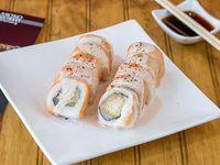 Sake acevichado roll (10 bocados)