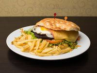 Sándwich árabe de lomo completo