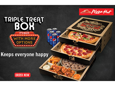 Pizza Hut's $10 Dinner Box includes one medium rectangular 1-topping pizza, 5 breadsticks with marinara dipping sauce, and 10 cinnamon sticks with icing – All in one convenient box. The medium pizza wasn't that big at all.